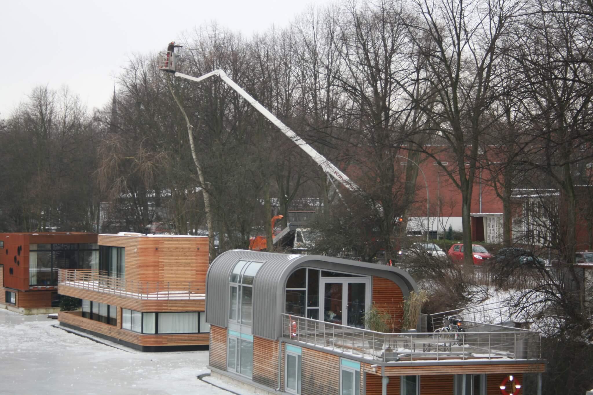 f llungen mittels hubarbeitsb hne baumpflege und baumf llung in norddeutschland. Black Bedroom Furniture Sets. Home Design Ideas